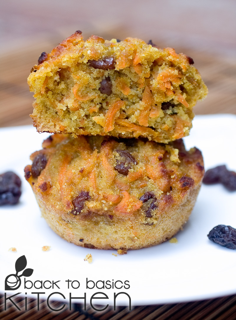 Coconut Flour Carrot Cake Muffins